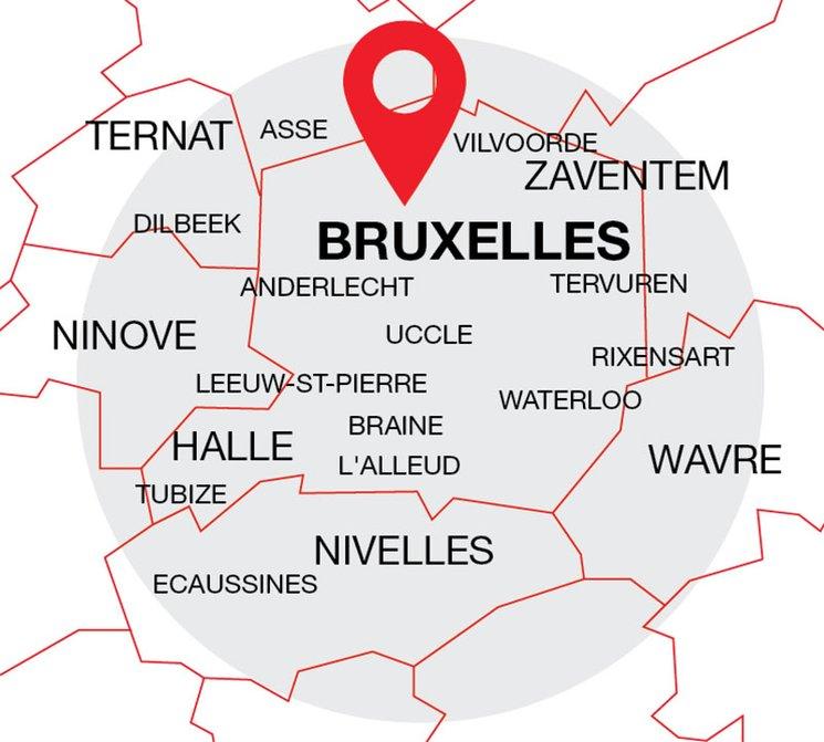 Débouchage communes Bruxelles et Brabant